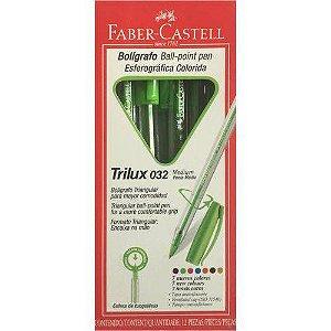 CANETA 1.0MM TRILUX COLORS (VERDE CLARO)(FABER CASTELL)