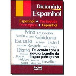DICIONARIO ESPANHOL/PORTUGUES(24.000 VERBETES)(368PAGS)(BICHO ESPERTO)
