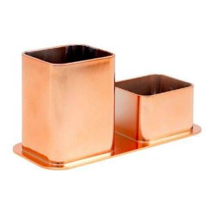 PORTA CANETAS+CLIPS METALIZADO ROSE GOLD (DELLO) 3030.RG