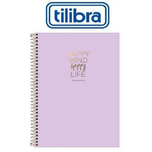 CADERNO COLEG 01MAT HAPPY LILAS 80F TILIBRA