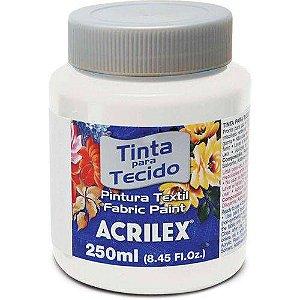 TINTA TECIDO FOSCA 250ML BRANCO ACRILEX 519