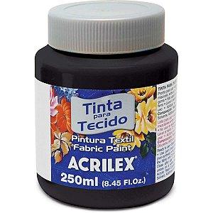TINTA TECIDO FOSCA 250ML PRETA ACRILEX 520