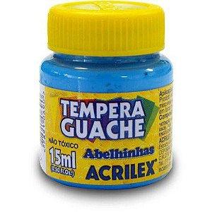 TINTA GUACHE 15ML AZUL CELESTE ACRILEX 503