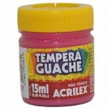 TINTA GUACHE 15ML ROSA ACRILEX 537