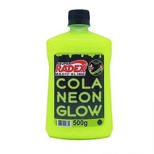COLA GLOW SLIME NEON AMARELO 500G (RADEX)7304