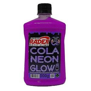 COLA GLOW SLIME NEON ROXO 500G (RADEX)7309