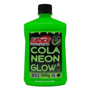 COLA GLOW SLIME NEON VERDE 500G (RADEX)7305