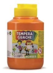 TINTA GUACHE 250ML LARANJA ACRILEX 517