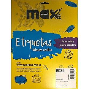 ETIQUETA ADESIVA CARTA 215,9X279,4 10FLS MAXPRINT