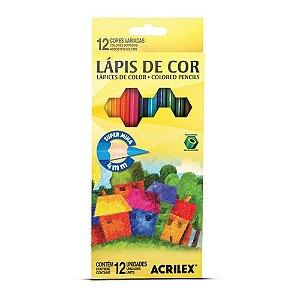 LAPIS DE COR 12 CORES ACRILEX