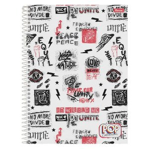 CADERNO CD UNV 12MAT POP COLLECTION FORONI