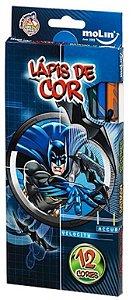 LAPIS DE COR 12 CORES BATMAN MOLIN