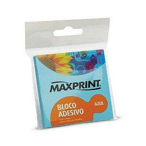 BLOCO ADESIVO NEON AZUL 76X102 MAXPRINT 743435