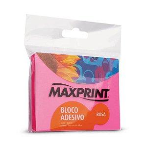 BLOCO ADESIVO NEON ROSA 76X102 MAXPRINT 743416