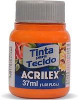 TINTA TECIDO 37ML LARANJA  ACRILEX 517