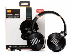 FONE BLUETOOTH/SD/FM JB950 SUPER BASS JBL PRETO