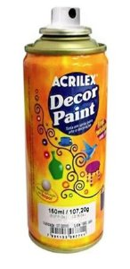 TINTA SPRAY VERMELHO DECOR PAINT 150ML ACRILEX 519