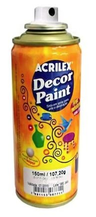 TINTA SPRAY PRATA DECOR PAINT 150ML ACRILEX 519