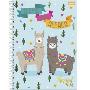 CADERNO CD UNV 12MAT TROPICAL FEVER FORONI
