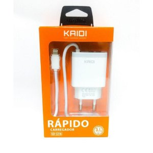 CARREGADOR APPLE  FONTE 2 USB 3.1A+CABO KAIDI KD-321A