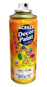 TINTA SPRAY PRETO DECOR PAINT 150ML ACRILEX 520
