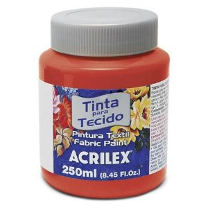 TINTA TECIDO FOSCA 250ML VERMELHO VIVO ACRILEX 541