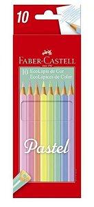 LAPIS DE COR 10 CORES PASTEL FABER CASTELL