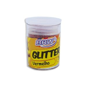 GLITTER VERMELHO 3G POTE BRW
