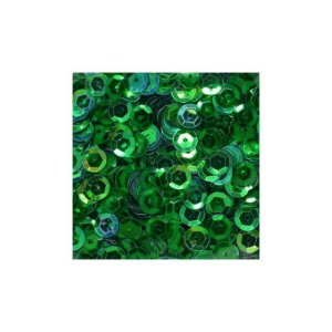 LANTEJOULA VERDE 2G POTE 6MM BRW