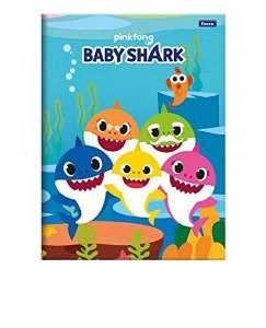 CADERNO BROCHURAO CD 96F BABY SHARK (FORONI)