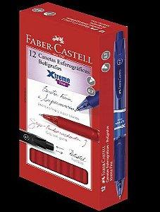 CANETA 0.7MM RETRATIL VERMELHA EXTREME FABER CASTELL