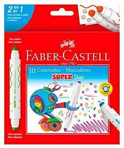 CANETINHA 10 CORES 2 PONTAS SUPER DUO FABER CASTELL