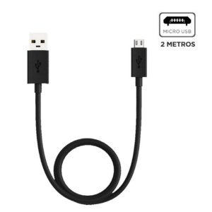 CABO USB V8 (2 MT)(PRETO)(MOTOROLA)(SJC00AMB20ET1)(ORIGINAL)