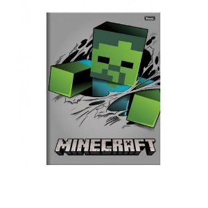 CADERNO BROCHURAO CD 48F MINECRAFT FORONI