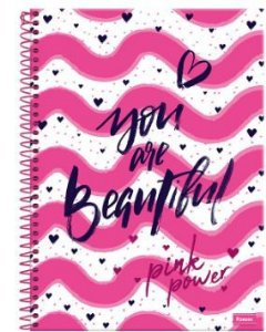CADERNO CD UNV 01MAT PINK POWER FORONI