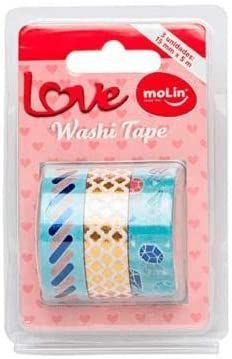 WASHI TAPE LOVE 15MMX5M MOLIN