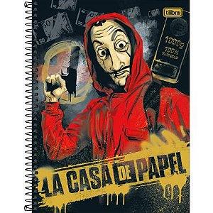 CADERNO CD UNV 01MAT LA CASA DE PAPEL 80F TILIBRA