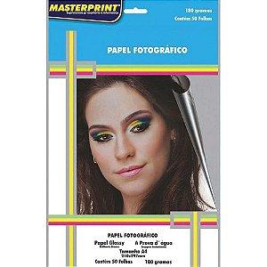 PAPEL FOTOGRAFICO GLOSSY A4 180G 50F PCT MASTERPRINT