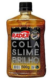 COLA GLOW SLIME GLITTER OURO 500G RADEX