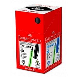 CAIXA CANETA 0.8MM PRETA C/ 50 UNIDADES FABER CASTELL