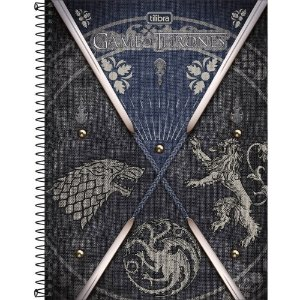 CADERNO CD UNV 01MAT GAME OF THRONES 80F TILIBRA
