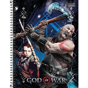 CADERNO CD UNV 01MAT GOD OF WAR 80F (TILIBRA)