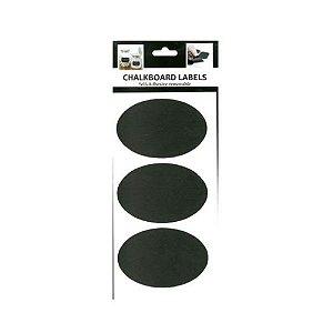 ETIQUETA CHALKBOARD OVAL C/ 03 KIT R.21552-08