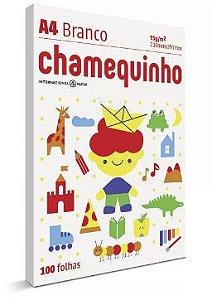 PAPEL CHAMEQUINHO BRANCO A4 100 FOLHAS