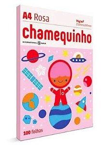 PAPEL CHAMEQUINHO ROSA A4 100 FOLHAS
