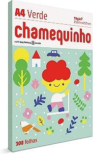 PAPEL CHAMEQUINHO VERDE A4 100 FOLHAS