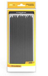 ABRACADEIRA PLASTICA (2,5MMX20MM)(PC.100UN)(PRETO)(ENE)(A25-E200P