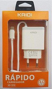 CARREGADOR V8 2 USB 3.1A+CABO KAIDI