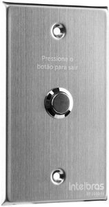 BOTAO DE SAIDA INOX C/MOLDURA  INTELBRAS  BT 5000 IN