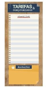 BLOCO NOTEPAD MAGNETICO NP23 CARTOES GIGANTES